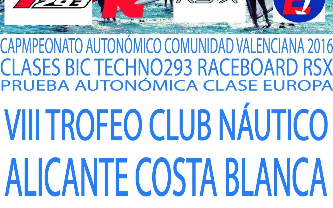 VIII TROFEO CNACB – CAMPEONATO AUTONÓMICO CLASES RSX BIC TECHNO293 RACEBOARD